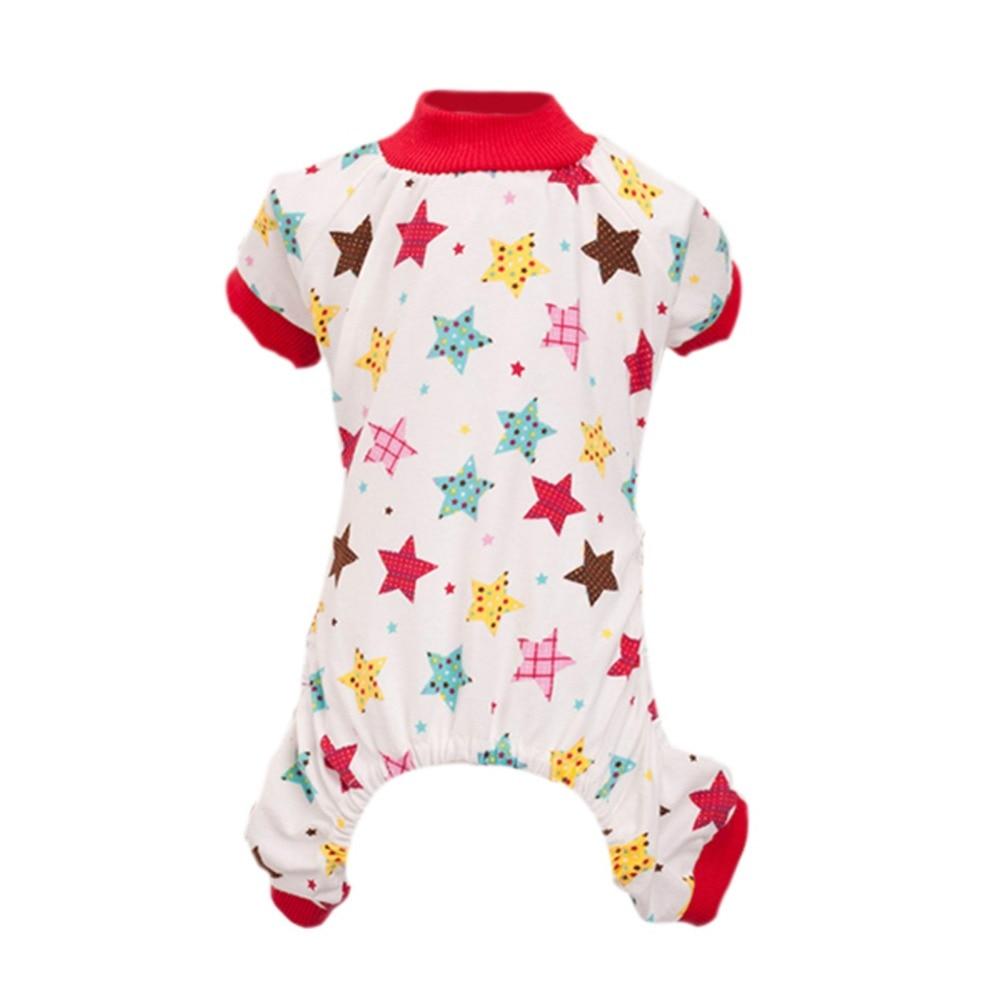 Dog Soft Cozy Dog Jumpsuit Pajamas Pet Cat Star Rabbit T-shirt Apparel Clothes Jackets
