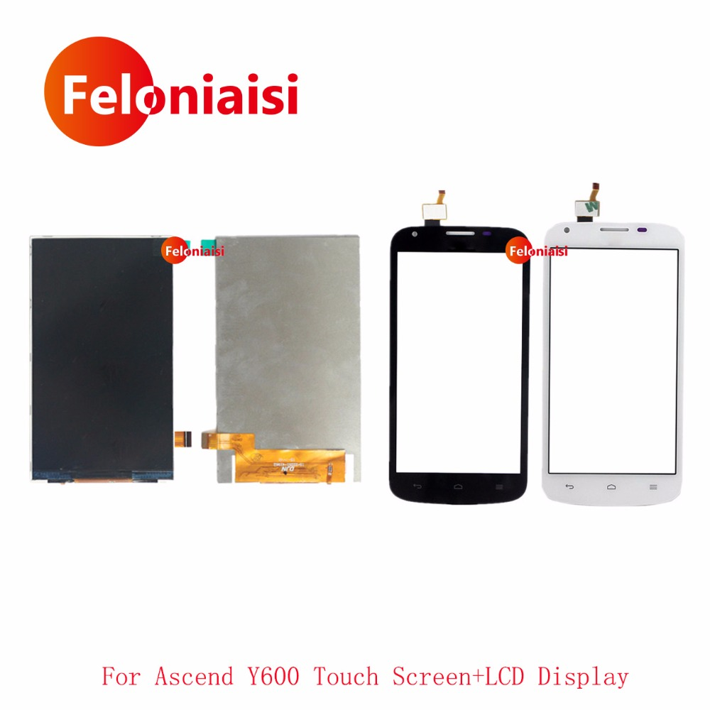 High Quality 5.0'' For Huawei Ascend Y600 Lcd Display With Touch Screen Digitizer Sensor Outer Glass Lens Panel+Tracking Code