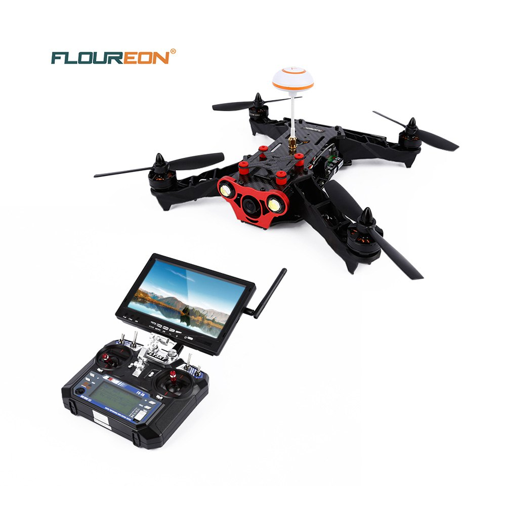 Racer 250 FPV RC Drone 2.4G 6CH Transmitter 7 Inch 32CH Monitor HD Camera RC Drone Quadcopter Mode 2 RTF Racing Drones in stock mjx bugs 6 brushless c5830 camera 3d roll outdoor toy fpv racing drone black kids toys rtf rc quadcopter