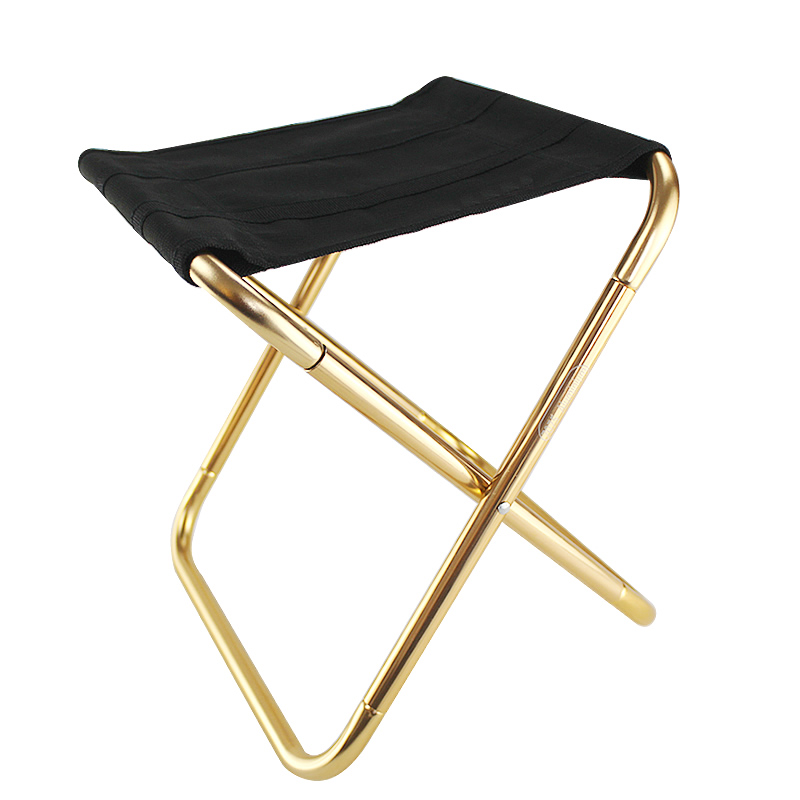 Outdoor Furniture Folding Chair 7075 Aluminum Alloy Fishing Camping Chair BBQ Stool Folding Stool Portable Travel Train Chair