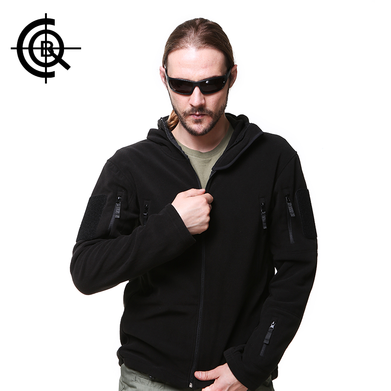 CQB Winter Outdoor Sport Fleece Jacket  Men Camping Winter Thickening Thermal Jacket Military Windproof Hiking Coat SY0145