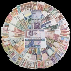 Lot 100 PCS Different world Banknotes From 30 Foreign countries , Free shipping, gift Collection set, 100% real original, UNC
