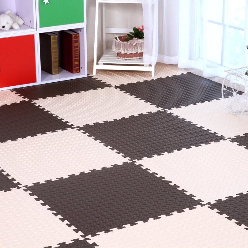 CCM Feuille Motif Bébé EVA Mousse Tapis de Jeu de Puzzle/enfants Tapis tapis Verrouillage Exercices Au Sol pour enfants Carreaux 60*60*1.2 cm