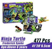 Bela 10264 Ninja Tortoise Mutant Era Frederick Spoke Minifigures Building Block Minifigure Toys Best Toys Compatible with Legoe