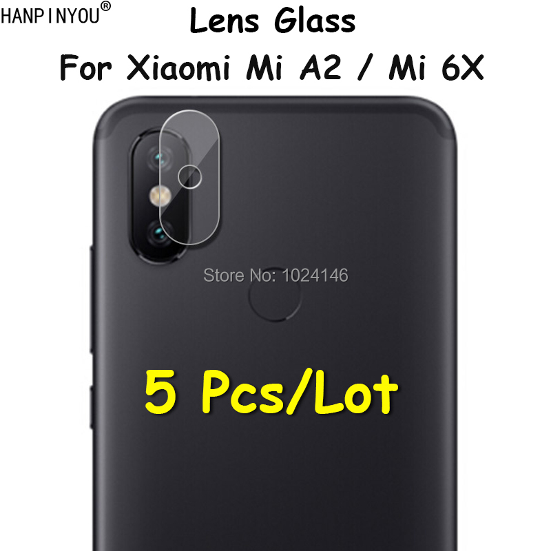 5 Pcs/Lot For Xiaomi Mi A2 / Mi 6X 5.99 Ultra Thin Clear Back Camera Lens Protector Soft Tempered Glass Protective Film