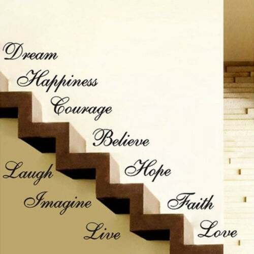 Image 2 - Stairs Decors Wall Art Quote Removable Stickers Vinyl Decals Home Decor US-in Wall Stickers from Home & Garden