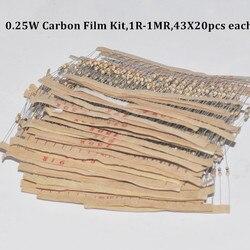 860pcs resistor kit 0 25w watt 43values x 20pcs resistencias resistor pack carbon film resistance 1.jpg 250x250