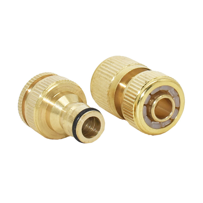 HTB1Is3YmiCYBuNkSnaVq6AMsVXaW Garden brass hose quick connector 1/2 copper connector garden hose female Thread 1/2 3/4 water gun fitting 1set