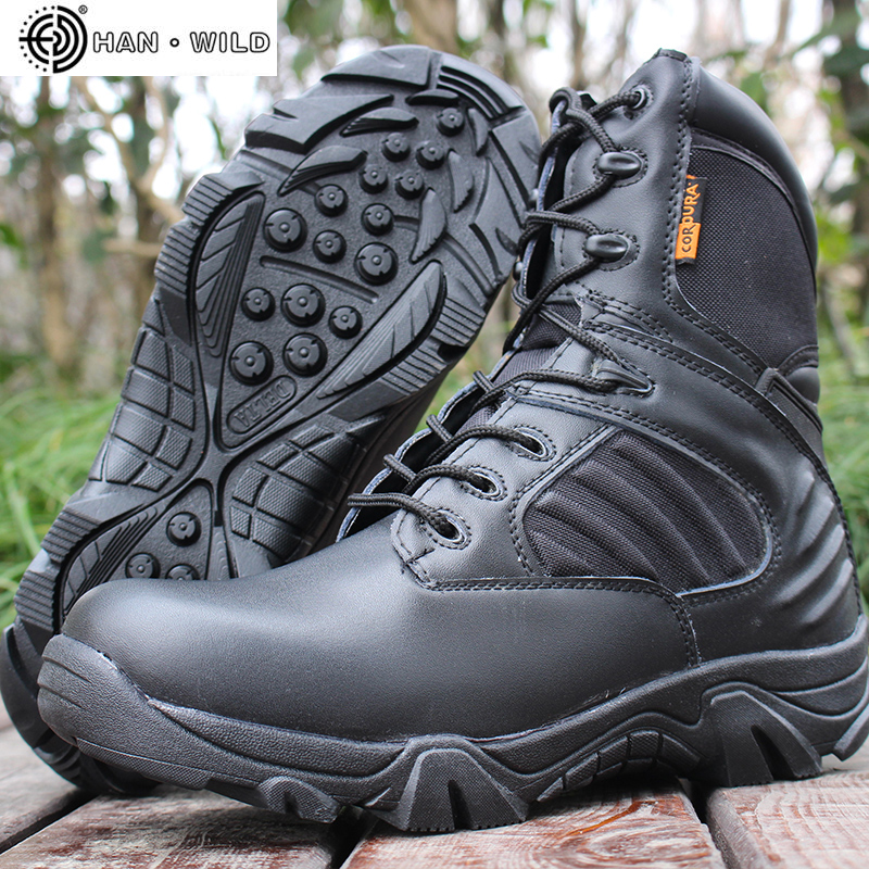 Men Tactical Military Boot Winter Genuine Leather Waterproof Rubber Work Shoes Mens Combat Ankle Army Boots