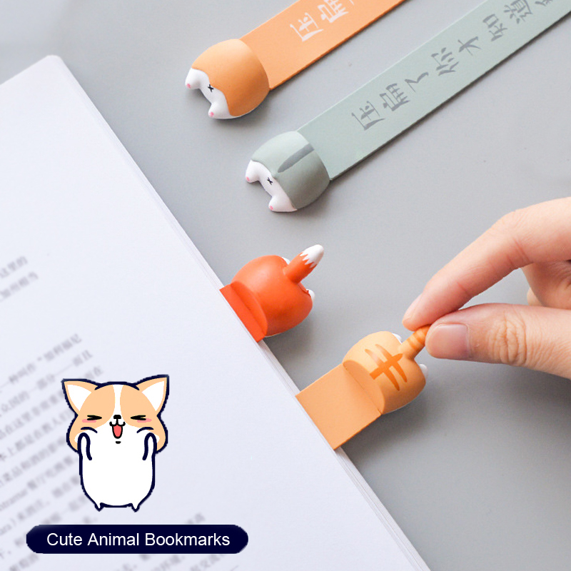 Lovely Cartoon Dog Cat Hamster Bookmarks Creative Novelty Book Reading Item Creative Gift For Kids Children Gifts Stationery