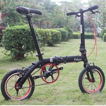 """Fnhon 412 bicicleta plegable bicicleta de aluminio plegable 14 """"Mini V freno plegable urbana de cercanías de la bicicleta"""