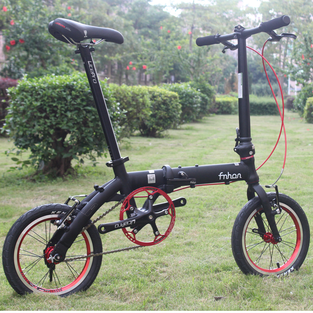 Fnhon 412 Folding Bicycle Aluminum Folding Bike 14 Mini Bike V Brake Foldable Urban Commuter Bicycle
