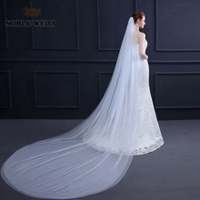 NOBLE WEISS Two Layers 1.5*3 Meters wedding veil Cathedral bridal veils Customize Wedding Party Veil With Comb(China)