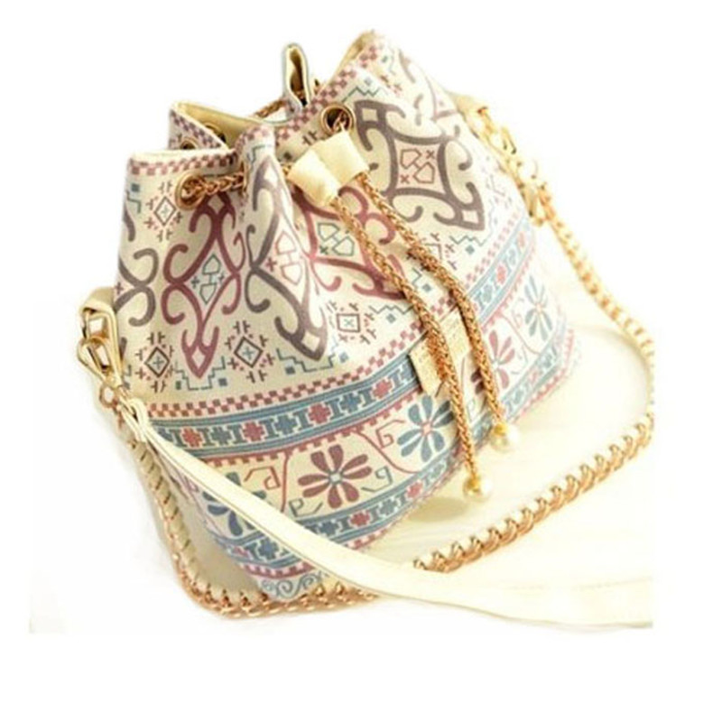 Bag Crossbody Floral Shoulder Canvas Bucket Bag Satchel Handbag Bolso De Las Mujeres