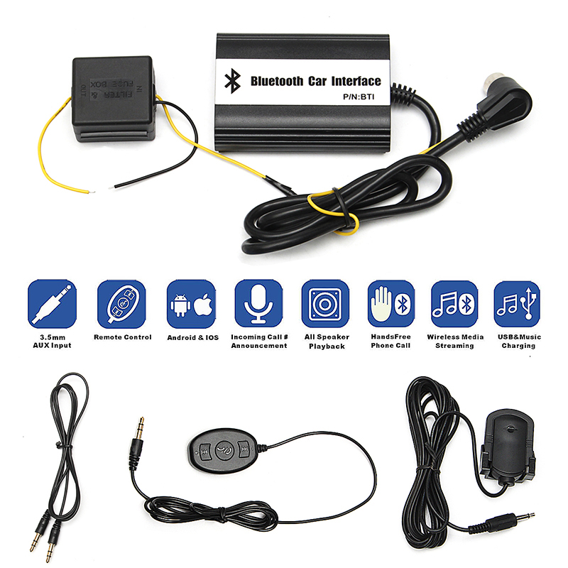 1 set Auto Bluetooth Kits Hands free USB SD 3.5MM AUX Car MP3 Adapter Cable Interface For Volvo Hu