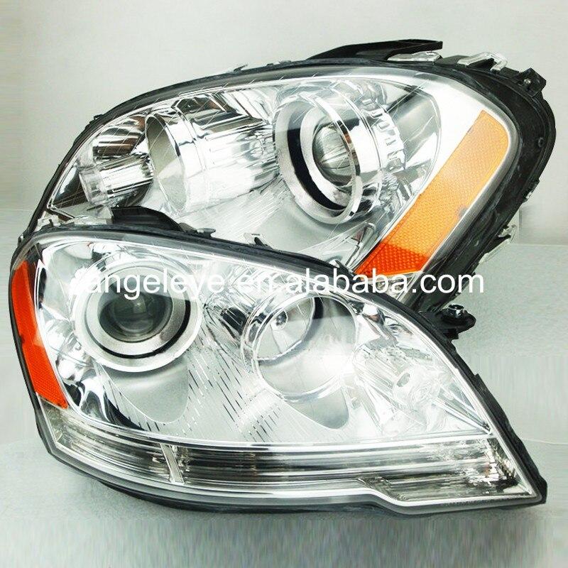 Pour BMW pour W164 ML280 ML320 ML350 ML500 2009-2011 année lampe frontale boîtier en argent jaune réflecteur TYC