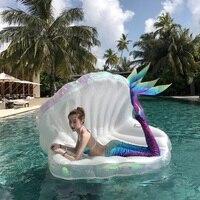 Гигантский жемчуг гребешки надувной матрас для бассейна оболочки матрас шезлонг с ручкой и жемчуг мяч водный диван вечерние игрушки Плават