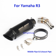 R25 YZF-R3 Motorcycle Exhaust Pipe Muffler Tip Pipe Exhaust System Connect Link Pipe for Yamaha R3 R25