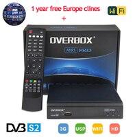 M9S PRO Receptor de Satélite DVB S2 Soporte 1080 p Full HD 3G powervu MPEG-5 + un año de Europa Clinales Servidor IPTV Youporn PK V8 Súper