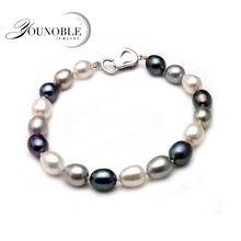 Real Beautiful freshwater pearl bracelet women,wedding cultured charm knot bracelet 925 silver jewlery girl birthday gift box beautiful natural freshwater multicolor pearl bracelet women wedding charm bracelet 925 silver jewlery girl birthday gift box