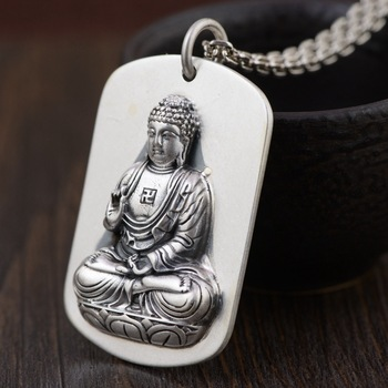 925 Sterling Silver Antique Crafts Chinese Zodiac The Buddha Patron Saint New Pendant