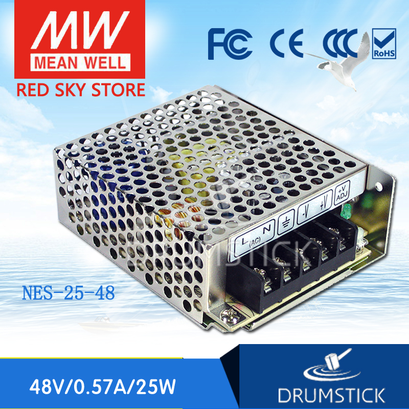 Advantages MEAN WELL NES-25-48 48V 0.57A meanwell NES-25 48V 27.36W Single Output Switching Power Supply meanwell 12v 350w ul certificated nes series switching power supply 85 264v ac to 12v dc