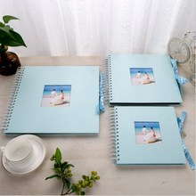 DIY Blue Photo Album Valentines Day Gifts Guest Book Craft Paper Anniversary Travel Memory Scrapbooking Wedding