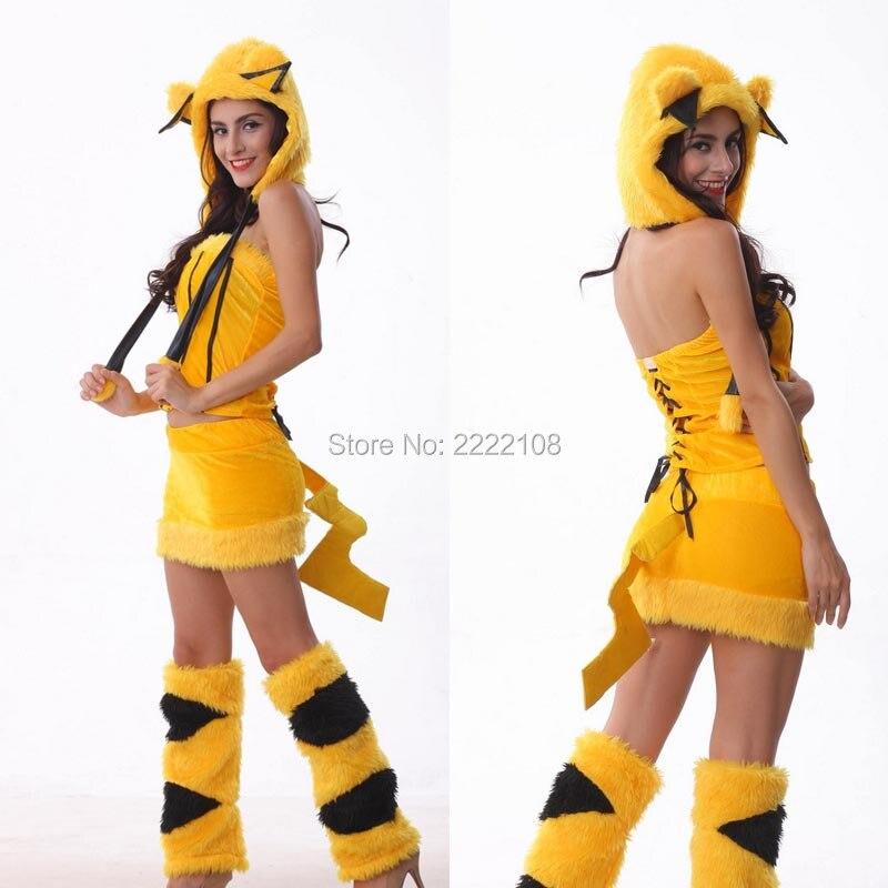 Pokemon Mascot Costume Pikachu Anime Cute For Girl Sexy Cosplay ...