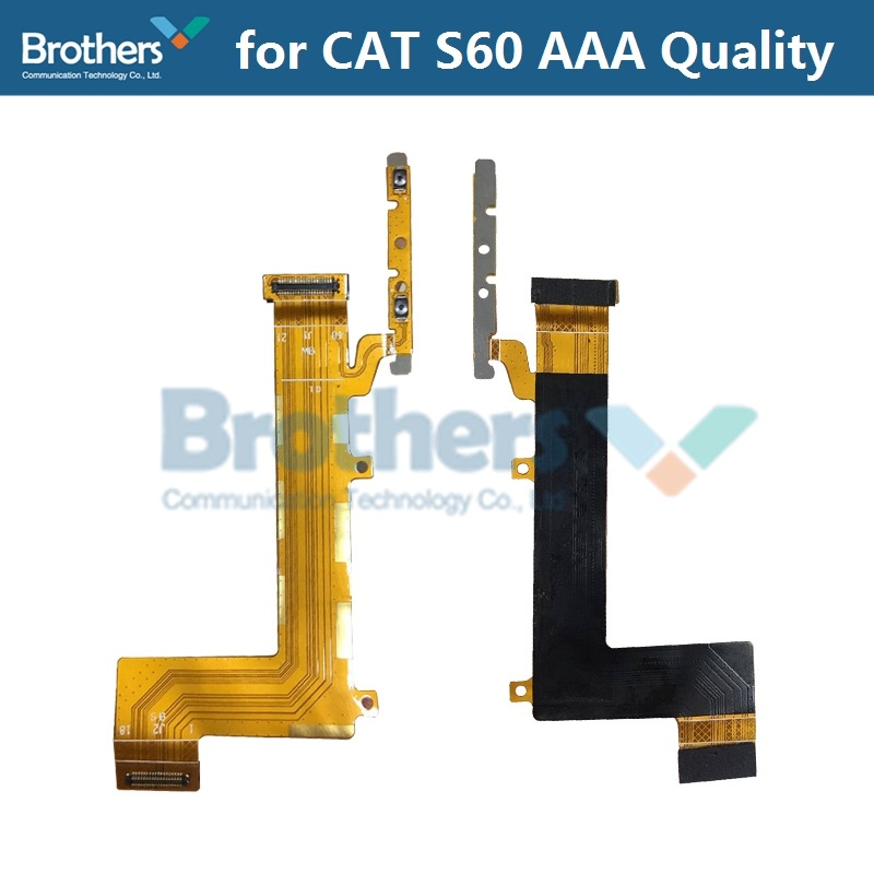 Volume Flex Cable For CAT S60 Power On Off Flex Cable For CAT S60 Mobile Phone Repair Part Replacement Part Working 1pcs AAA