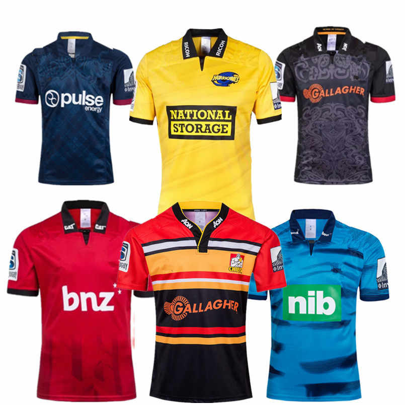c30825037aa 2019 New Zealand Super rugby Jerseys CRUSADERS HURRICANES Highlanders Blues  Chiefs Jersey size S-3XL