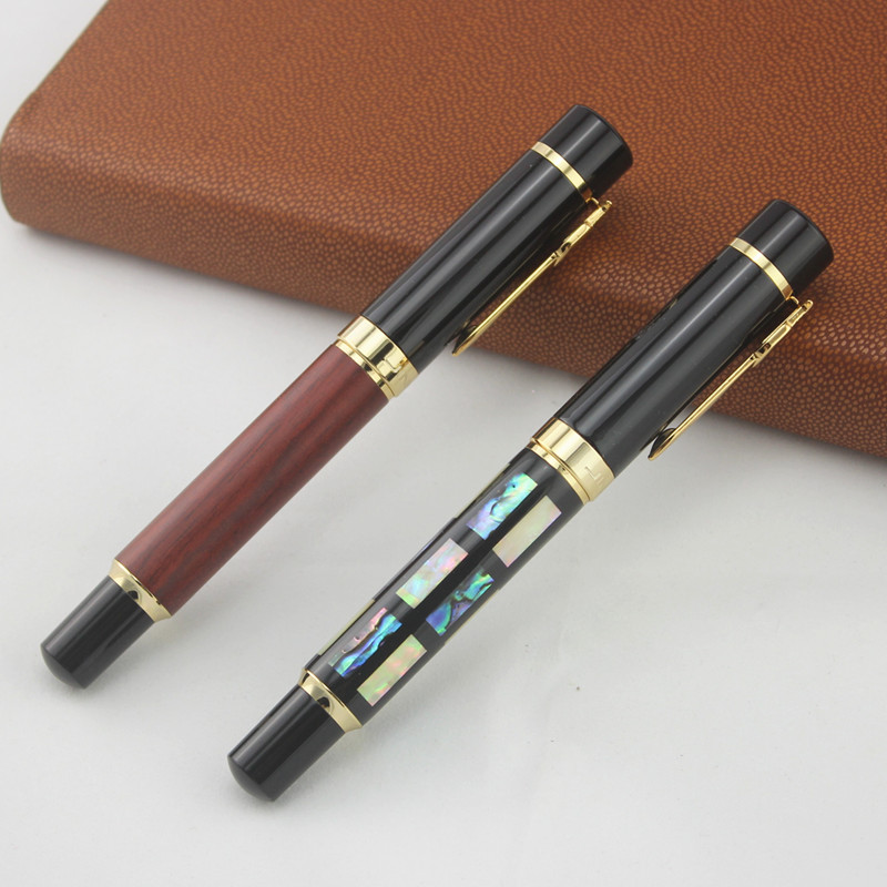 JinHao 650 0.5mm Nib Fountain Pen Luxury Shell Carving or rosewood Ink Pen for Writing stationery School office supplies