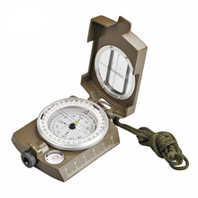 New Professional Military Army Metal Sighting Waterproof Compass Outdoor Gadgets Sport Clinometer Camping Hiking Climbing
