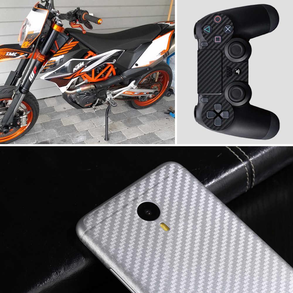 500 см x 60 см водонепроницаемый DIY стикер для мотоцикла автомобильный Стайлинг 3D автомобиль углеродное волокно виниловая пленка рулон пленка аксессуары автомобиля наклейки пленка