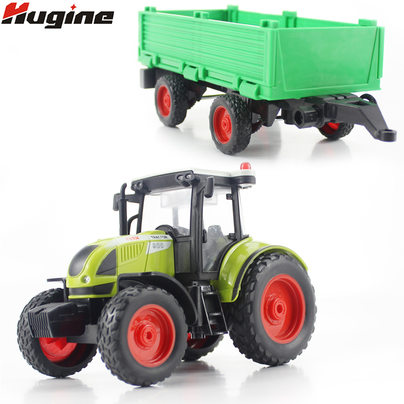 Литье под давлением игрушечный автомобиль Фермер трактор симулятор 1:16 оттягивать назад с огнями и музыкой транспорт Грузовик модель подар...