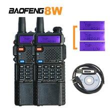 Baofeng UV-5R Radio 8W UV-8HX UHF/VHF Powerful Walkie Talkie uv 5r walky talky FM 128CH Ham Radio for Hunting Radios Sets