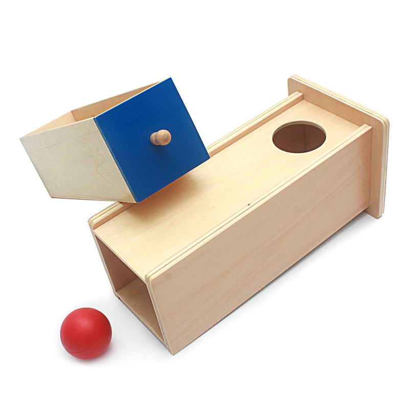Montessori Kids Toy Baby Wood Ball Rectangular Drawer Toy For Toddler Learning Educational Preschool Training Brinquedos Juguets