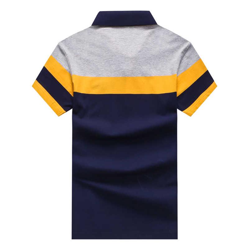 TACE & SHARK Merk 2018 Mode Persoonlijkheid Mens Shark Borduren Polo Shirt Homme Geel Rood Polo Vlag Hoge Kwaliteit Kleding