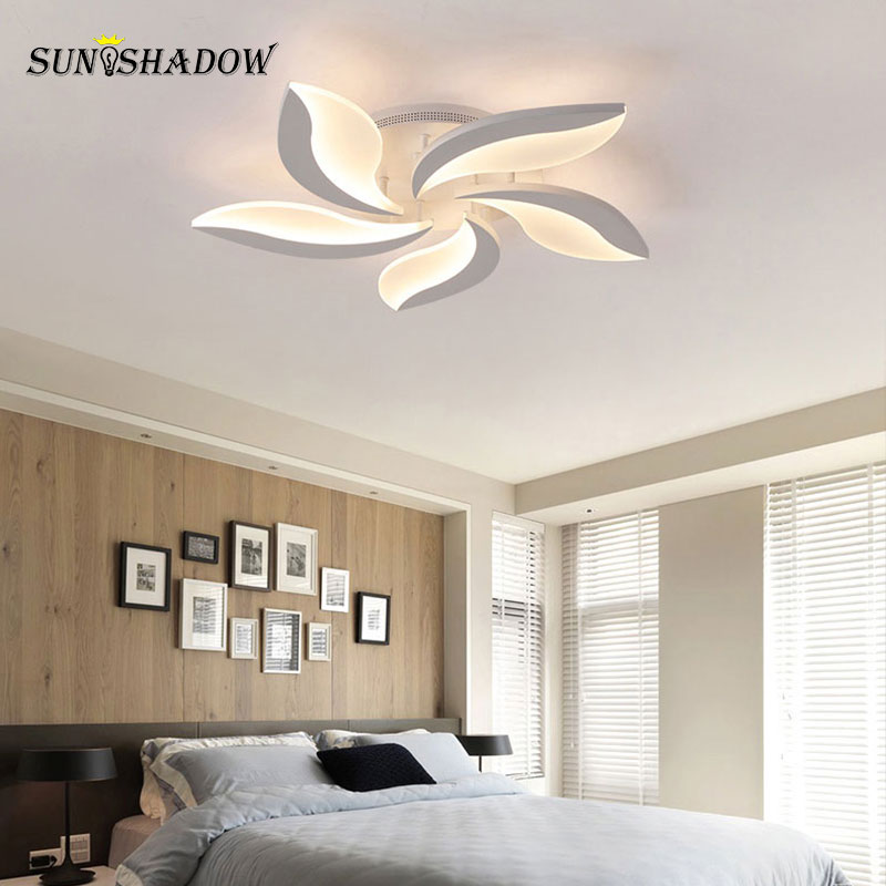 Image 4 - White Body Modern LED Ceiling Light lampara de techo For Living Room Bedroom Home Lustres Plafond Ceiling Lamp Lighting Fixtures-in Ceiling Lights from Lights & Lighting