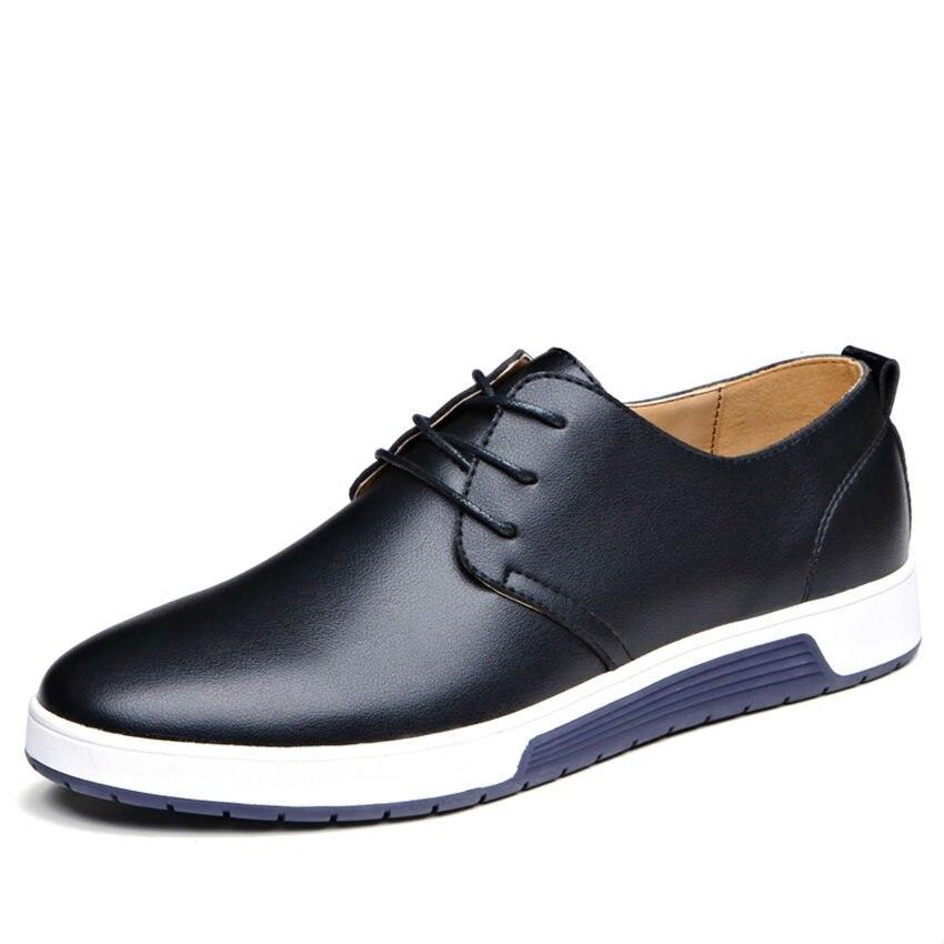 fa5ce1447e8fbd BIMUDUIYU di Modo Semplice Degli Uomini Del Progettista Scarpe di Cuoio  Degli Uomini di Casual scarpe