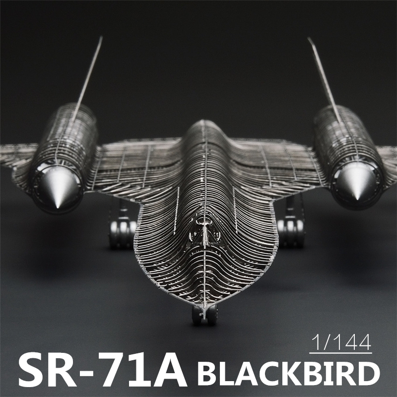 MMZ MODEL Jasmine 3D Metal Puzzle 1/144 SR-71A BLACKBIRD Full PE Model Assembly Metal Model Kit DIY 3D Laser Cut Model Puzzle