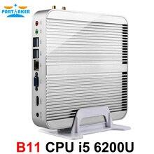 Причастником B11 Безвентиляторный Barebone PC Skylake i5 6200U Мини-ПК Окна 10 4 К HTPC Графика HD 520 300 м Wi-Fi