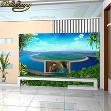 цена на Custom made Landscape painting 3d wallpaper European minimalist bedroom living room TV backdrop KTV3D abstract mural wallpaper