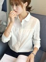 2017 Summer Women T Shirt Fresh Sweet Female Tops Korea Kawaii Turn Down Collar Tees F170