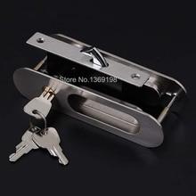 High-quality Sliding Door Lock Interior Room Door Lock invisible Door Lock balcony Copper Lock Core furniture hardware D413