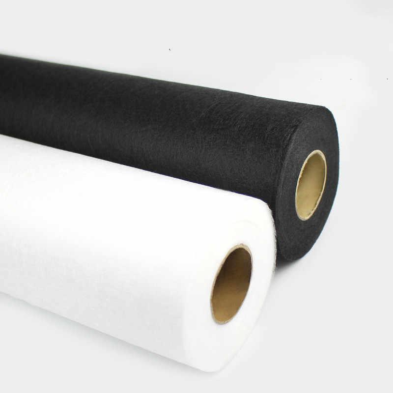 Doublures en tissu Non tissé blanc et noir, 1 mètre, pour la couture, doublures adhésives sur Patchwork