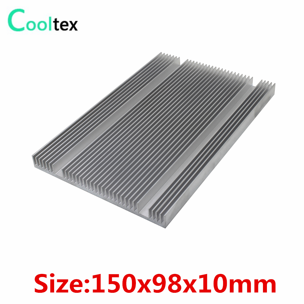 150x98x10mm Aluminum Heatsink Radiator Heat Sink for Chip RAM LED Electronic integrated circuit Cooler Cooling high power 125x125x45mm aluminum heatsink heat sink radiator for electronic chip led cooler cooling recommended