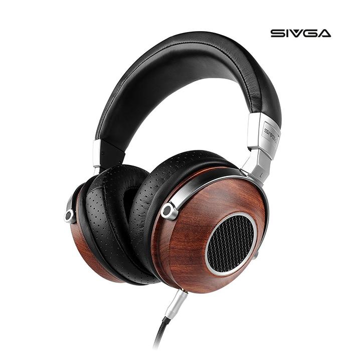 SIVGA SV007 Over Ear Headphones Wired,Wooden Open Back Studio Headset