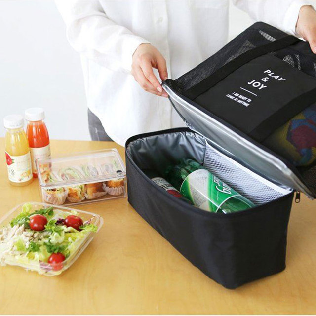 Personalized Double layer Insulated Picnic Bag Thermal Food