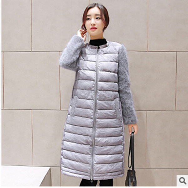 ФОТО New 2016 brand winter jacket women thick long women's slim winter jackets plus size cotton-padded female parka and coat Q739