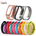 Lemado Metal Strap For Xiaomi Mi Band 2 Strap Stainless Steel Bracelet Replacment strap For Mi Band 2 OLED Display Wrist